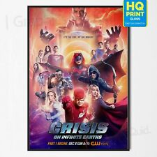 Crisis On Infinite Earths Crossover DC Comics Poster *LAMINATED OPTION* A4 A3