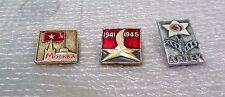Lot of 3: Russian Soviet CCCP USSR  Lapel Pin / Badge   lot of 3