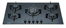 Saga Elegans X951-B 90cm 5 Burner Built-in Gas on Glass Hob & Cast Iron Trivets