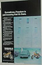 1971 YAMAHA 650 Motorcycle advertisement, 650 Street XS1-B bike