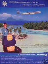 PUBLICITÉ 2002 AIR TAHITI NUI PAR AIR FRANCE - ADVERTISING