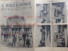 ESPOSIZIONE INTERNAZIONALE TORINO 1902 LUGLIO SECOLO ILLUSTRATO DOMENICA
