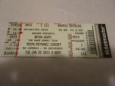 Bryan Adams The Barebones Tour Acoustic Unplugged Concert Raleigh ticket Stub 20
