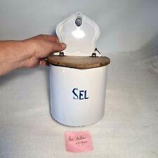 🔅 ancienne boite à sel en tole emaillée