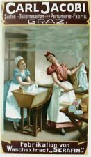 Original vintage poster JACOBI LAUNDRY PRODUCTS LADIES c.1900