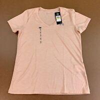 Under Armour Women's Size Medium Peach Short Sleeve Tech Twist V-Neck Tee NWT
