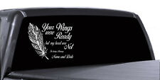 IN MEMORY OF FEATHER CUSTOM PERSONALIZE VINYL DECAL STICKER CAR TRUCK WALL DECOR