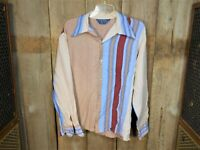 Vintage Mens Camp Shirt Mack Disco Leisure Studio 54 70s M/L Max Boogie nights