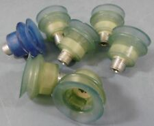 """Lot of 7 Rubber Bellows Vacuum Cup 3/4"""" mnpt"""