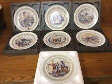 D'Arceau-Limoges Set of 7 Washington Collector Plates w/Boxes & Certificates