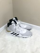 adidas Pro Bounce 2019 Basketball Shoe Sneaker Mens Size 20 White Black Gold NEW
