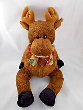 "Reindeer Deer Elk Plush 16"" to Top of Head Hug & Luv"