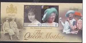 SEYCHELLES MNH STAMP SHEET 2002 QUEEN MOTHER COMMEMORATION SG MS916