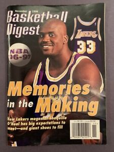November 1996 Basketball Digest Magazine SHAQUILLE O'NEAL Cover - LA Lakers