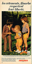 PUBLICITE ADVERTISING 045  1971  ABSORBA   vetements pour enfants 4