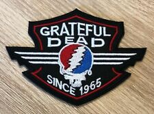 GRATEFUL DEAD Embroidered Patch Iron / Sew On Jerry Garcia Bertha Woodcut NEW