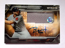 Blake Swihart 2015 Topps Strata Auto Relic Card Autograph/Patch RedSox