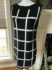 Yansi Fugel Black And White Reversible A-line Dress, Size Small