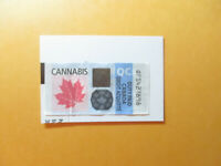 CANNABIS TAX PAID REVENUE STAMP QUEBEC CANADA ON PIECE