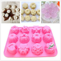 3D Flower Heart Silicone Soap Candle Molds Cake Baking Tools Jelly Pudding Mould