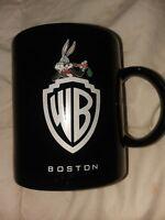 1981 Warner Bros WB Bugs Bunny Vintage Black Coffee Mug 80s Looney Tunes