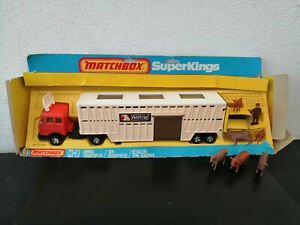 MATCHBOX SUPERKINGS K 8  MERCEDES Betaillère/Animal Transporter