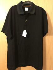 Paul Smith Men Black Polo Shirt, Artist Stripe Collar/Hem Size L, Italy RRP £215