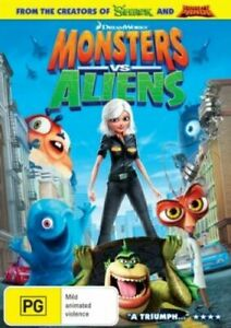 Monsters Vs Aliens (DVD, 2009, R4) - Use Good Condition -