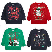 Kids Christmas Sweatshirt Jumper. Ages 2 to 6 Years