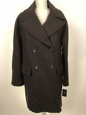 Vince Camuto Women's Double Breasted Wool Blend Coat Size L Olive MSRP $325