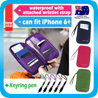 Travel Wallet Passport Holder Card Organizer Bag iPhone 7 Case Pouch +Strap+Pen