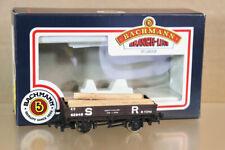 BACHMANN 33-454 SOUTHERN SR BROWN 3 PLANK WAGON 62948 & LOG LOAD BOXED nz