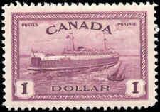1946 Mint H Canada VF Scott #273 $1.00 Train Ferry Issue Stamp