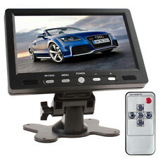 7Inch 800 x 480 TFT LCD 2-CH Video AV HDMI VGA Car Rear View Monitor +AC Adpater