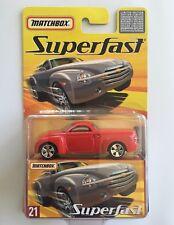 2005 Matchbox Superfast RED 2001 CHEVROLET SSR (SUPER SPORTS ROADSTER) pickup!