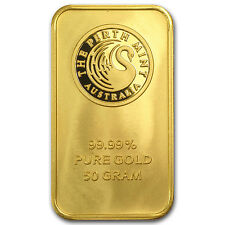 50 gram Gold Bar - Random Brand Names - SKU #45509