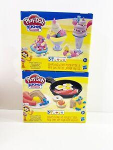 Play-Doh Kitchen Creations Toast Waffles & Scoops & Sundays Ice Cream Set of 2