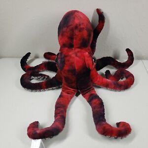 "Fiesta Black Red Octopus Plush Stuffed Animal 17"" Monterey Bay Aquarium w tag"