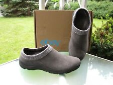 Vionic Arbor Gray Suede Knit Cuff Mule Clogs Comfort Shoes 1st Ray Tech, size 10