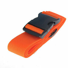 Orange Travel Baggage Adjustable Suitcase Luggage Tie Down Belt Buckle Strap