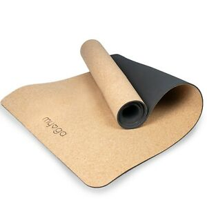 Natural Cork XL Yoga Mat Non Slip Extra Grip Gym Pilates Exercise Mat