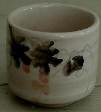 Nice Ceramic Handle-less Tea Cup, Hand Painted Design, VG CONDITION