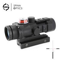 Optical Red Dot Sight Collimator 3x32 Fiber Optic For Telescopic Rifle Scope
