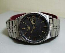 Vintage Seiko Automatic Day Date Mens Stainless Steel Wrist Watch Old Used e363