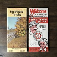 Two Vintage 1966 Pennsylvania Dutch & Turnpike Visitor Tourist Pamphlets Booklet