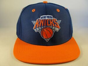 New York Knicks NBA Adidas Snapback Hat Cap Blue Orange