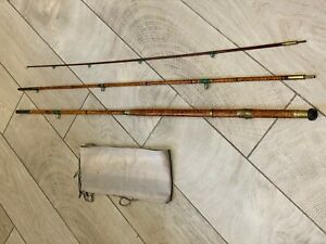 J Bernard & Son of London Vintage 11ft Flamed Cane Salmon Rod to use or display