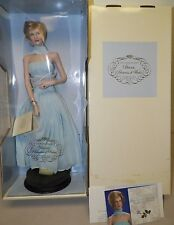 FRANKLIN MINT PRINCESS DIANA PORCELAIN PORTRAIT DOLL PRINCESS OF ELEGANCE BLUE