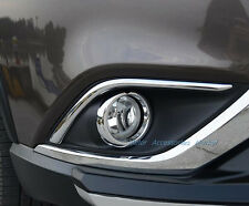 New Chrome Front Fog Light Lamp Cover Trim For Mitsubishi Outlander 2016-2018