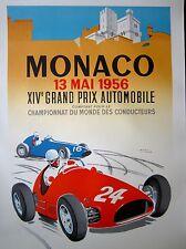 Monaco Grand Prix 1956 Race Car Poster